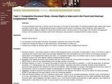 Comparative Document Study? Human Rights in Islam and in the French and American Enlightment Traditions Lesson Plan