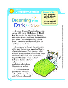 Compare and Contrast: Dreaming from Dark to Dawn Worksheet
