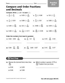 math worksheet : ordering percents fractions and decimals worksheets  compare  : Percents Fractions And Decimals Worksheets
