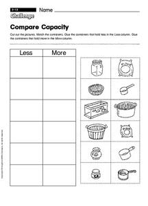 Compare Capacity Worksheet