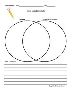 Compare: School And Summer Vacation Worksheet