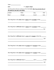 Compare Shapes Worksheet