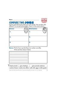 Compare Two Jobs Lesson Plan