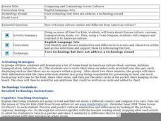 Comparing and Contrasting Across Cultures Lesson Plan