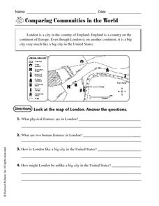 Printables Communities Worksheets comparing communities in the world 4th 6th grade worksheet worksheet