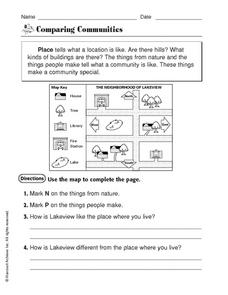 Comparing Communities Worksheet