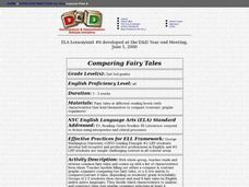 Comparing Fairy Tales Lesson Plan