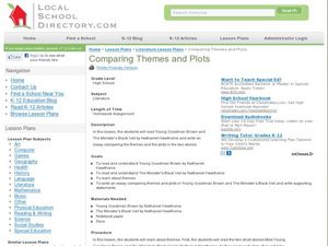 "Comparing Themes and Plots: ""Young Goodman Brown"" and ""The Minister's Black Veil"" Lesson Plan"