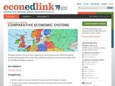 Comparitive Economic Systems Lesson Plan