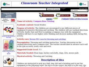 Compass Rose Tossing Lesson Plan