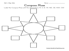 Worksheet Compass Rose Worksheets compass rose 3rd 5th grade worksheet lesson planet worksheet