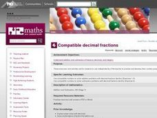 Compatible Decimal Fractions Lesson Plan