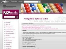 Compatible Numbers To Ten Lesson Plan