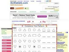Complete The Pattern Worksheet