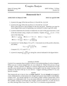 Complex Analysis:  Homework Set 5: Domain Worksheet