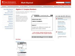 Complex Numbers Lesson Plan