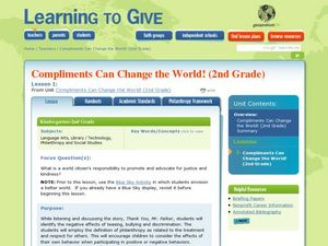 Compliments can Change the World Lesson Plan