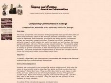 Composing Communities in College Lesson Plan