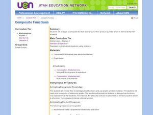 Composite Functions Lesson Plan