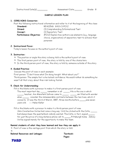 Comprehending Informational Text: Author's Point of View Lesson Plan