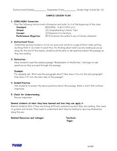 Comprehending Literary Test: Asking Questions Lesson Plan