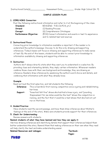 Comprehension Strategies: Drawing Inferences Lesson Plan