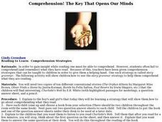 Comprehension! The Key That Opens our Minds Lesson Plan