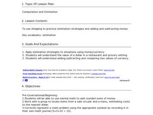 Computation and Estimation Lesson Plan