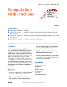 Computation with Fractions Lesson Plan