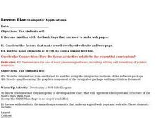 Computer Applications - 1 Lesson Plan