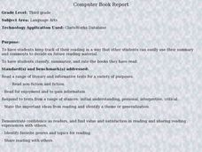 Computer Book Report Lesson Plan