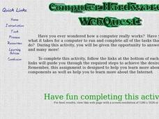 Computer Hardware Webquest Lesson Plan
