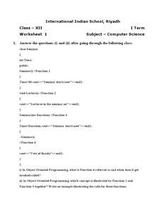Printables Computer Science Worksheets computer science programming in c higher ed worksheet lesson worksheet