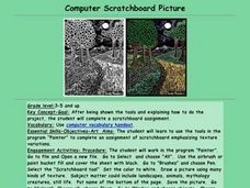 Computer Scratchboard Picture Lesson Plan