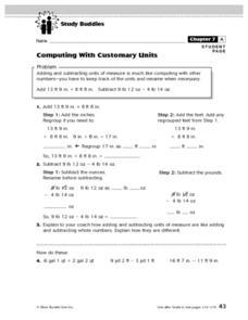 Computing With Customary Units Lesson Plan