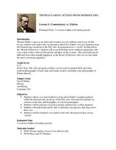 Comstockery vs. Eakins Lesson Plan