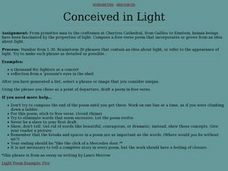 Conceived in Light Lesson Plan