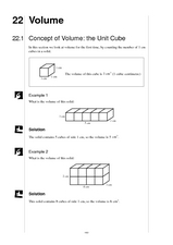 Concept of Volume: the Unit Cube Worksheet
