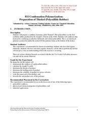 Condensation Polymerization: Preparation of Thiokoll® (Polysulfide Rubber) Lesson Plan