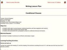 Conditional Clauses Lesson Plan