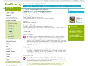 Conducting Research Lesson Plan