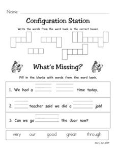 Configuration Station #12 Worksheet