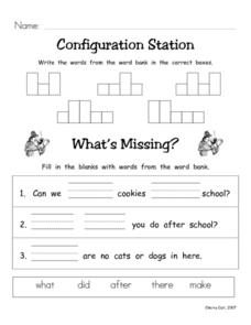 Configuration Station #3 Worksheet