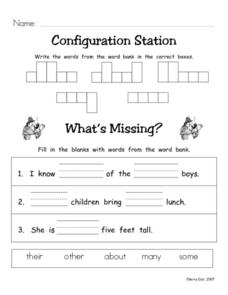 Configuration Station #6 Worksheet