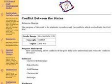 Conflict Between the States Lesson Plan