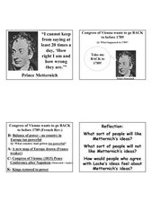Congress Of Vienna Worksheet - Gamersn