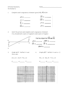 Congruence Statements Worksheet