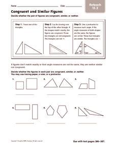 congruent and similar figures reteach 4th 5th grade worksheet lesson planet. Black Bedroom Furniture Sets. Home Design Ideas
