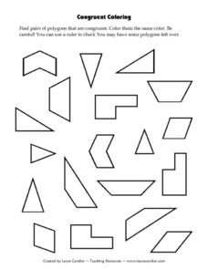 Congruent Coloring Lesson Plan