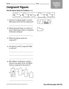 Congruent Figures - Practice Problems 17.1 Worksheet